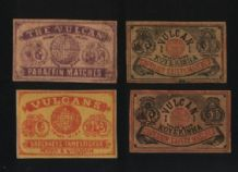 OLD match box labels CHINA or JAPAN patriotic    #575